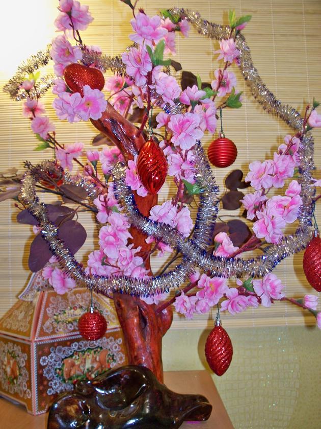 новогодний декор в японском стиле