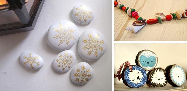 морские камни - новогодние украшения