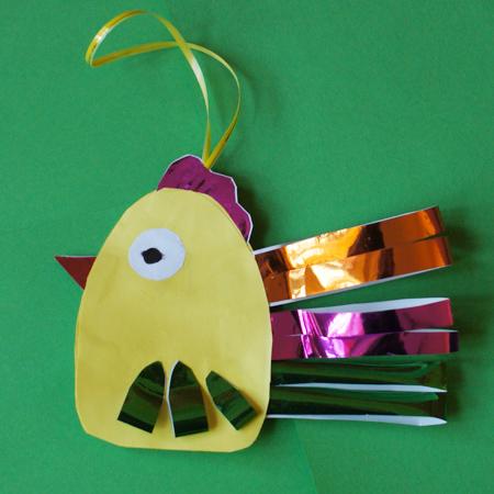 Новогодние поделки из бумаги - Петушок