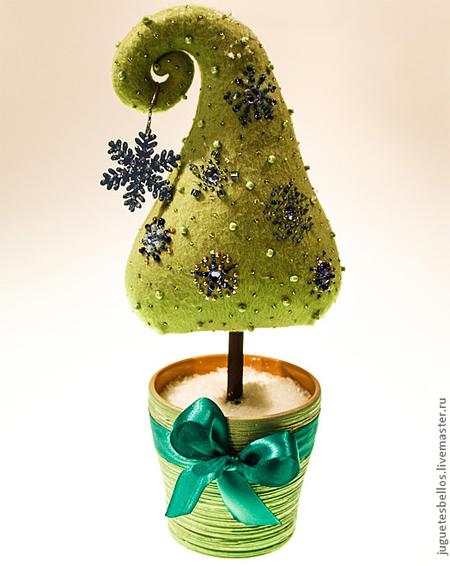 новогодняя елка из флиса