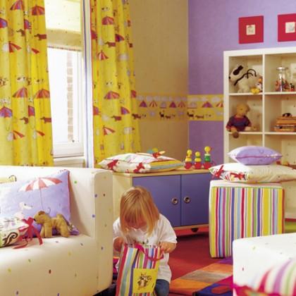 Желтые шторы в детской комнате