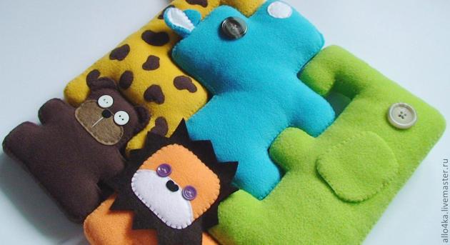 Как сделать игрушки для кота из цветного фетра 76