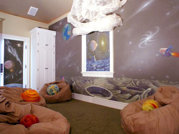 космическая комната для мальчика
