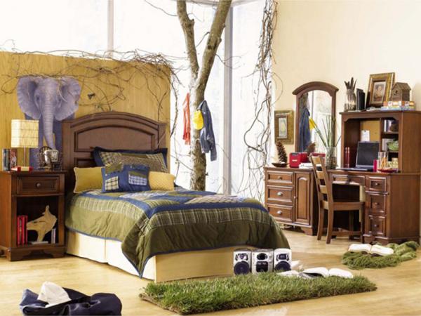 джунгли в детской комнате мальчика