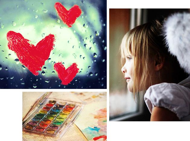 на стекле нарисовано сердце