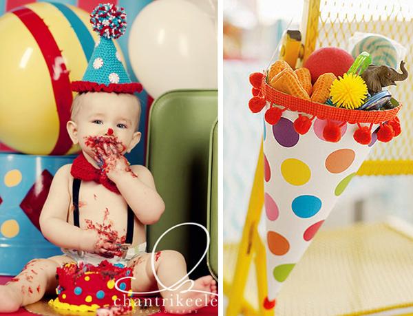 оформление дня рождения в стиле цирк