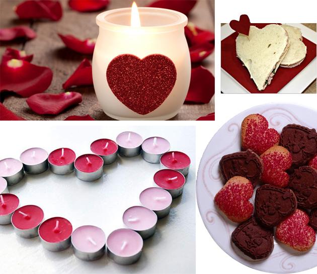 свечки в форме сердца