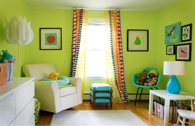 Оформляем интерьер детской комнаты в зеленых тонах с помощью 10 советов и 35 фото-примеров
