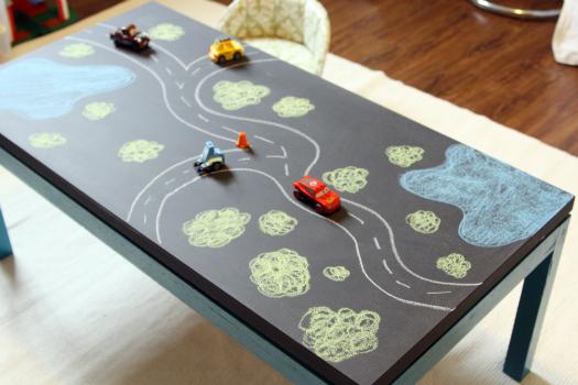 Рисунок на стол своими руками 12