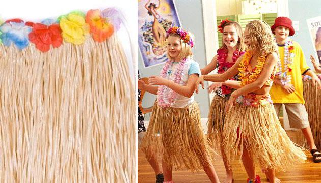 Гавайская юбка соломенная