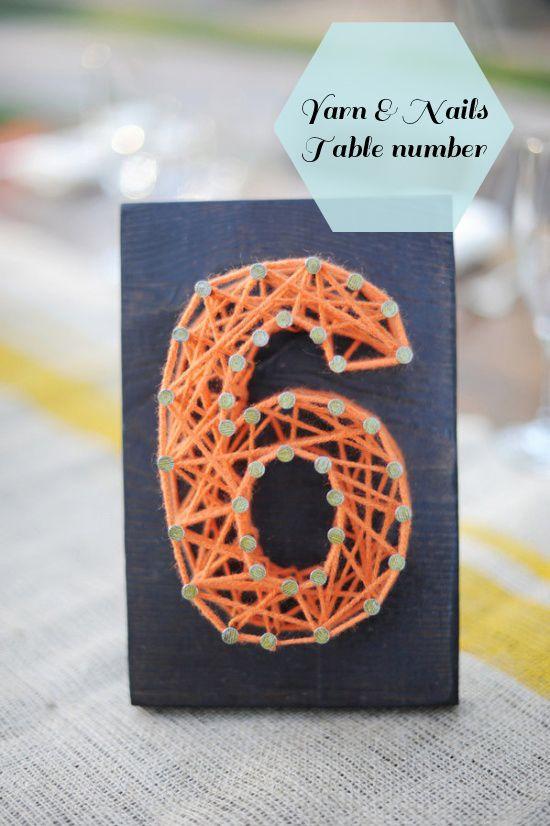 Цифра из ниток на день рождения своими руками