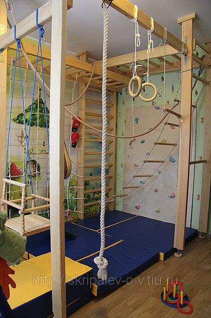 Спортивный детский уголок в комнату своими руками