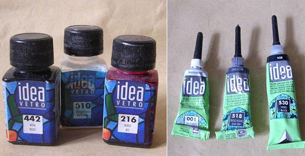 Как сделать в домашних условиях витражные краски