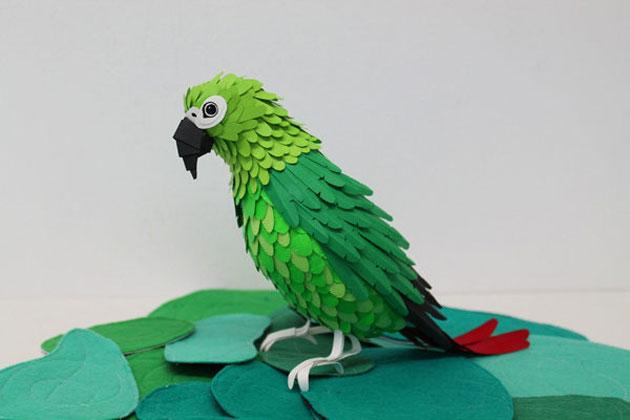 Поделка птицы из бумаги