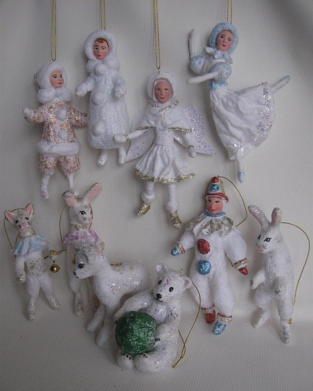 Новогодние игрушки из ваты своими руками фото 362