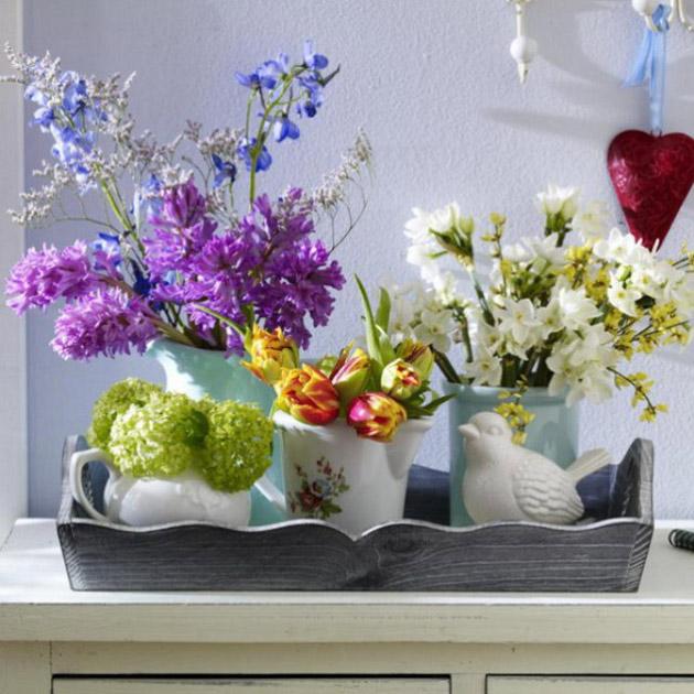 Весенние цветочные композиции своими руками border=