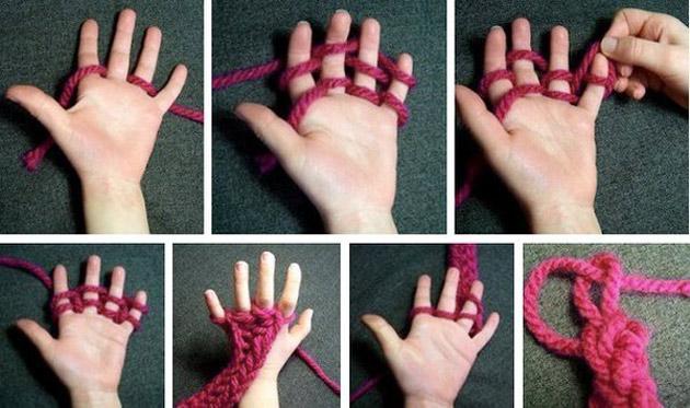 Как научить ребёнка вязать крючком