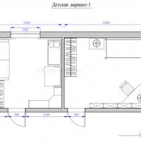 Вопрос:Добрый день! Прошу помочь мне сделать грамотную планировку двух детских комнат в строящемся доме. Большая комната – 15 кв.м. предназначена для сына 3 лет, меньшая – 12 кв.м. для новорожденного...