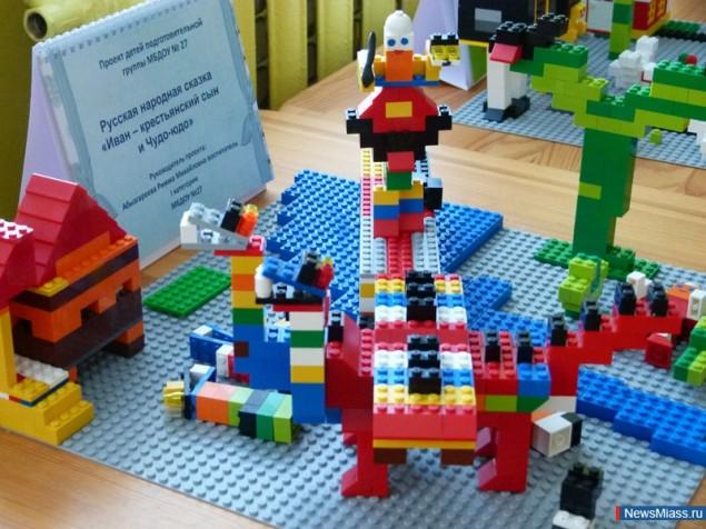 а деталей от Лего