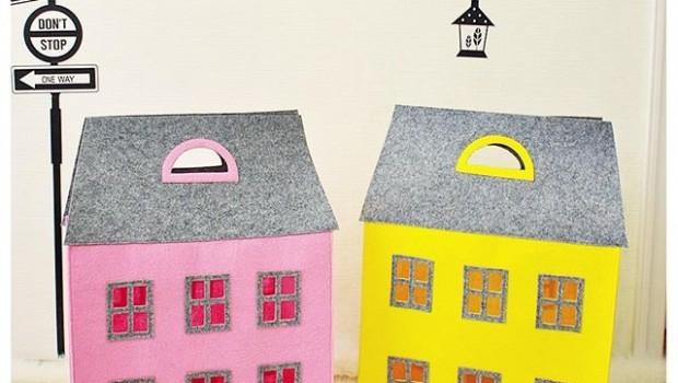 сумки домики для детской комнаты