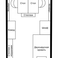 Вопрос: Пожалуйста, помогите спланировать детскую для двойняшек-мальчиков 3 лет. Комната маленькая 10кв.м. Ширина всего 2,5м, высота 2,4м. Как расположить двухъярусную кровать и столы для занятий, чтобы не перестраивать, когда мальчики...