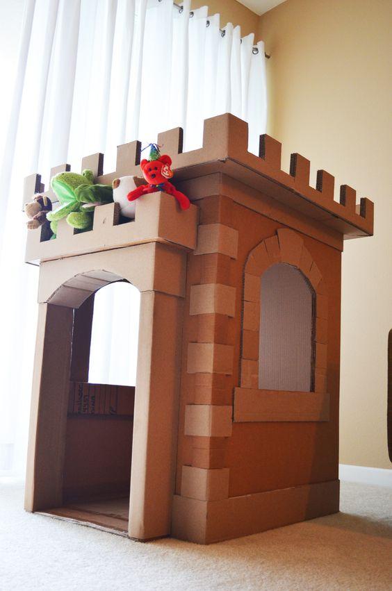 Замок из коробок своими руками картинки 60