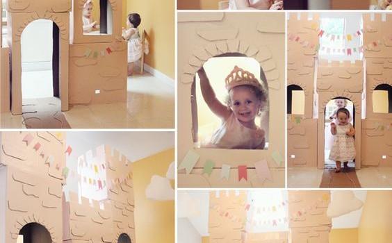 замок из картонной коробки