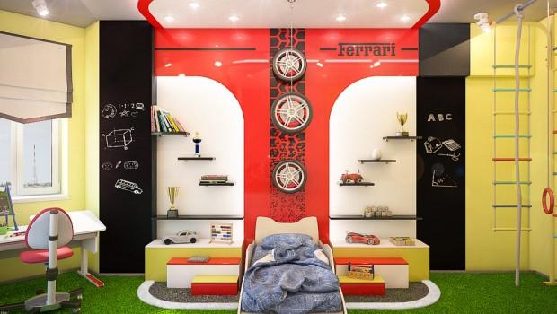 детская комната для мальчика тачки