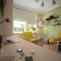 Уютная и комфортная детская для мальчика – проект архитектора Ольги Берковой. Расположенная с северной стороны, эта комната наполнена ярким дневным светом, прекрасно взаимодействующим с яркой и свежей желто-зеленой цветовой гаммой....