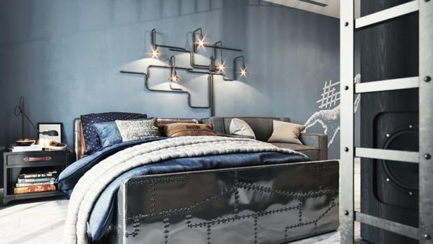 """Проект этой стильной и не совсем """"детской"""" комнаты для подростка создан дизайнером Милой Даштамировой. Комната делалась для мальчика 11 лет. Главной целью дизайнера было создание пространства на вырост, чтобы жить..."""
