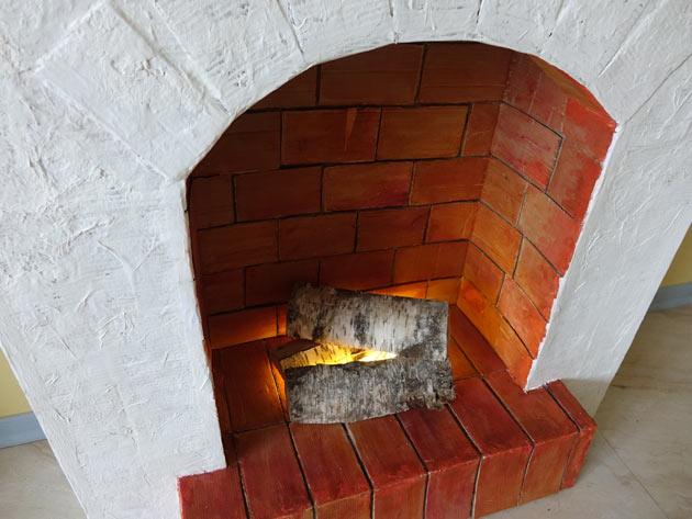 Мастер-класс: делаем камин из картона