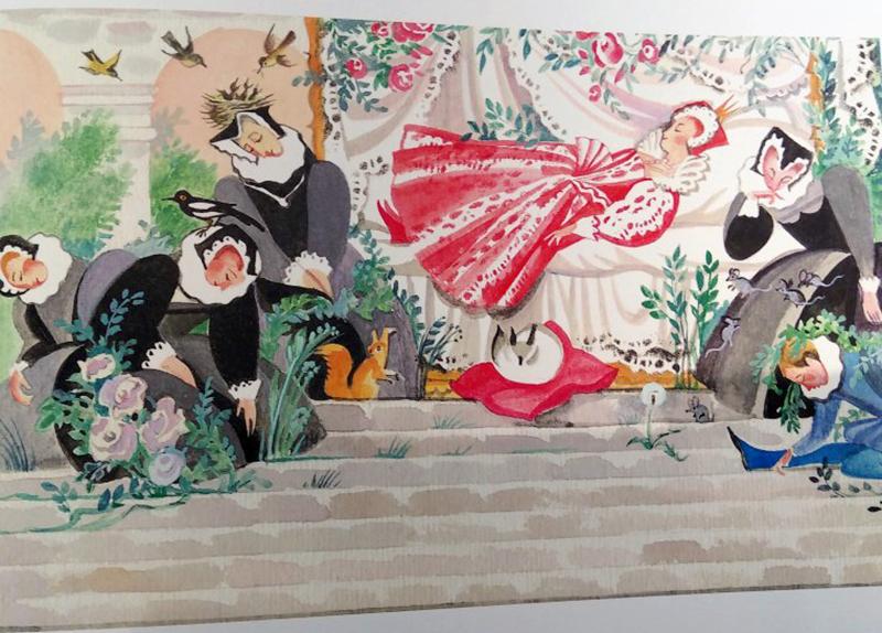 """Иллюстрации Ники Гольц к сказке """"Спящая красавица"""""""