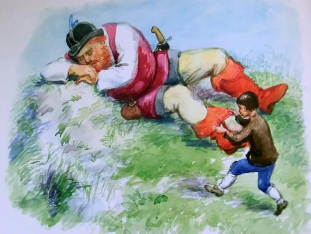 """Иллюстрации Рейпольского к сказке """"Мальчик с пальчик"""""""