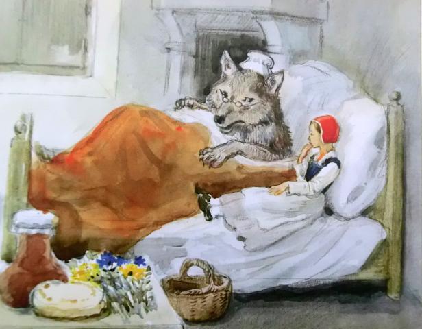 """Иллюстрации Рейпольского к сказке """"Красная Шапочка"""""""