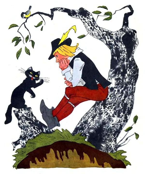 """Иллюстрации Э. Булатова и О. Васильева к сказке """"Кот в сапогах"""""""