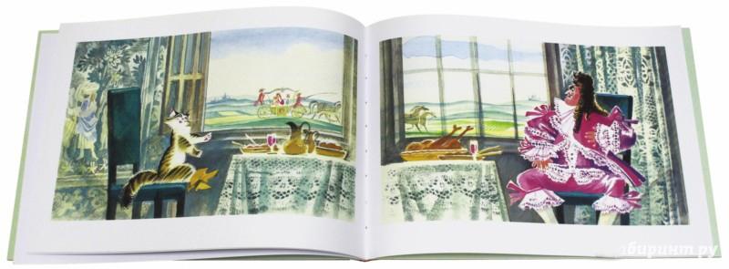 """Разворот книги """"Кот в сапогах"""" с иллюстрациями Ники Гольц"""