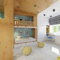 Детская комната для трех мальчиков – яркий проект, продуманный дизайнером Елизаветой Ашкенази до мелочей. Оригинальные конструктивные решения помогли превратить комнату 18 кв.м. в комфортное пространство для трех детей разного возраста....