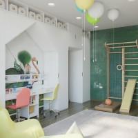 Проект этой детской комнаты для четверых детей был разработан дизайнером Оксаной Цымбаловой. Чудесным образом ей удалось создать детское пространство, где можно развиваться и играть, где будет возможность всем четырем детям...