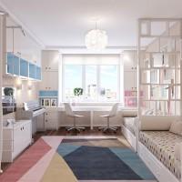 """Автор проекта этой детской комнаты, выполненной в нежных весенних тонах – дизайнер Александра Трухина. Отсюда и ее название – """"Весенний цвет"""". Сложность задачи, поставленной перед дизайнером, заключалась в том, чтобы..."""