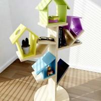 Веселые полочки от дизайн-студией Notus Design (Бразилия) напоминаютзабавное дерево с разноцветными скворечниками. Вся конструкция надежно продумана и прочно держится на круглом основании. Полочки делаются из натурального дерева и могут быть...