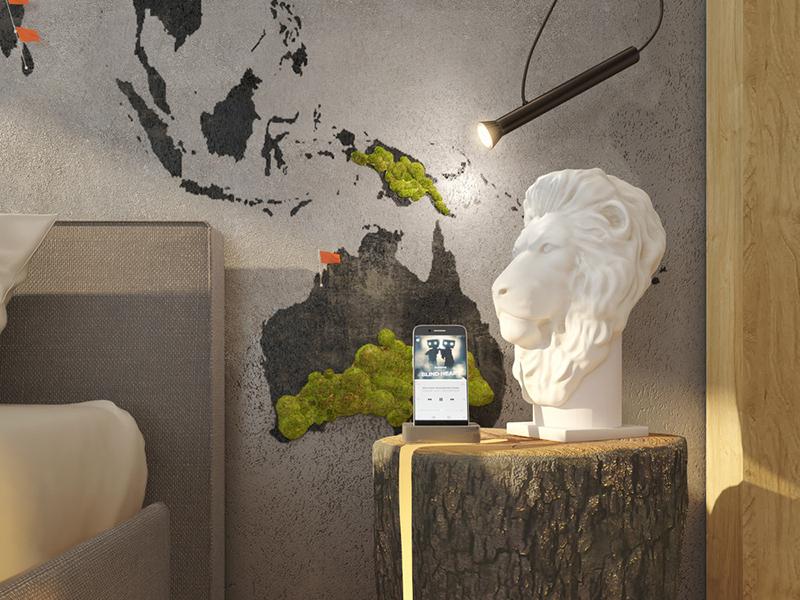 Лаконичное и стильное освещение прикроватной зоны