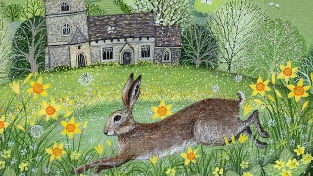 Заяц и первоцвет