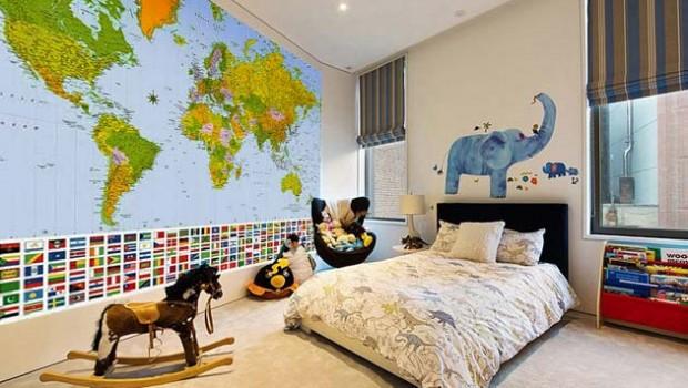 Географическая карта – важный и полезный атрибут в детской комнате. Она служит ярким акцентом, задает стиль, помогает ребенку постигать географическую науку, изучать страны и города. На карте можно отмечать те...