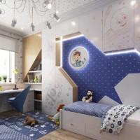 Оригинальное решение детской комнаты в космическом стиле для двух мальчика разработал дизайнер Максим Бабкин. В данном помещении использована мебель со скрытыми механизмами открывания по обе стены. Похожие записи: Комната для...